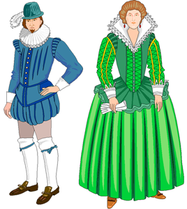 Tudor clothes rich and poor